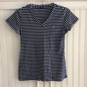 Nautica striped vneck